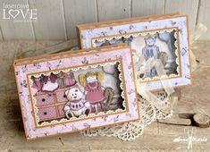 Pudełko na czekoladki Vintage Dior, Shadow Box, Decorative Boxes, Images, Scrapbooking, Retro, Frame, Cards, Bebe