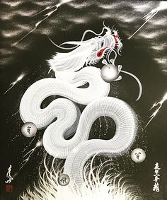 日本伝統の聖地、【京都】で活動する、京都 一筆龍 桜凜堂の作品集、一筆龍絵師 『手島啓輔』 の作品に対する思い。 Phoenix Dragon, Japan Illustration, Oriental, Japanese Dragon, White Dragon, Dragon Art, Japan Art, How To Better Yourself, Yin Yang
