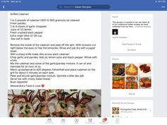 Grilled Calamari, Calamari Recipes, Us Foods, Italian Recipes, Grilling, Fresh, Traditional, Canning, Squid Recipes