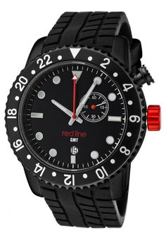 Price:$135.99 #watches Red Line 10000, Showcasing a smart blend of contemporary and classical styles, this Red Line timepiece is a handsome addition to any man's wardrobe.