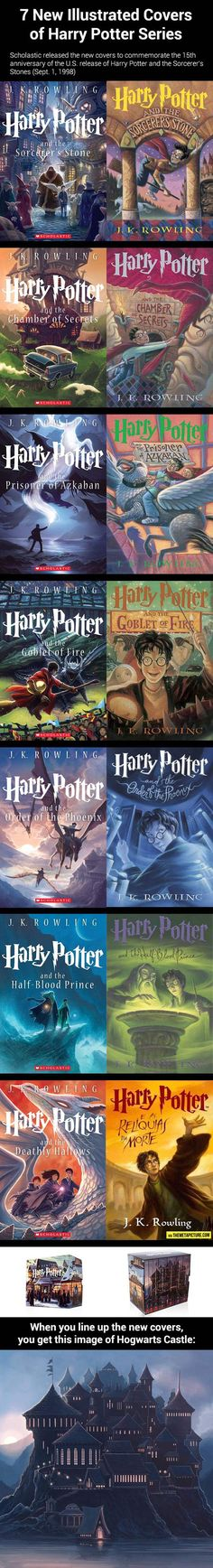 New illustrated covers of Harry Potter… I LOVE the boxed set. The outside of the box and how the covers line up and EVERYTHING ABOUT THESE IS WONDERFUL! The Patronus? Diagon Alley? Harry and Dumbledore? <3 SO much love. <3 <3 <3