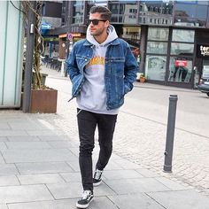 denim over hoodie with casual sneakers - Tap the link to shop on our official online store! You can also join our affiliate and/or rewards programs for FREE!