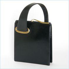 Vintage Black Leather Koro Purse