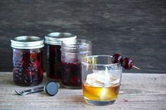 Incredible Vanilla Infused Bourbon Soaked Cherries | SheEats  Is there anything better than boozy cherries? I don't think so. Especially when you soak them in bourbon and then drink them with bourbon. Love my whiskey fruit preserves!  Get the recipe here --> http://sheeats.ca/2012/06/bourbon-soaked-cherries-as-life-intended/