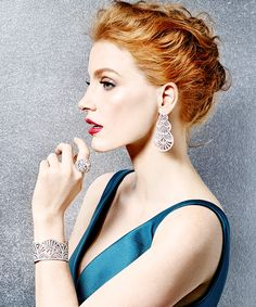 Galana Cora. Character inspiration for Hiding Haelo, by T.M. Holladay (Jessica Chastain)