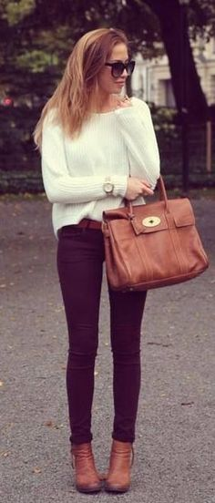 #fall #outfits / white knit