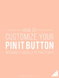 Adding a pin it button to your blog, and a custom one at that, is a great way to…