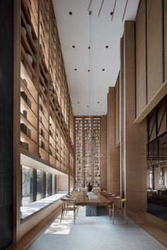 Photos and Videos 19 of 32 from project Jinan Bocuishan Sales Center Lobby Interior, Luxury Homes Interior, Interior Architecture, Chinese Interior, Japanese Interior, Public Library Design, Clubhouse Design, Beijing, Book Bar