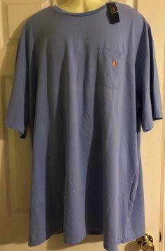 7afb55f6 Polo Ralph Lauren Men Blue Rain Pocket Signature T-Shirt Big & Tall NWT