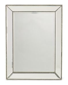 a broad beveled glass framed by concave mirrored panels our channing mirror infuses a room with quiet drama