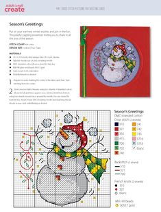 ru / Фото - Cross Stitch Patterns for Cards-Joan Elliott 2013 - Chispitas Snowman Cross Stitch Pattern, Cross Stitch Art, Cross Stitch Designs, Cross Stitching, Cross Stitch Patterns, Christmas Embroidery Patterns, Embroidery Applique, Cross Stitch Embroidery, Cross Stitch Christmas Ornaments