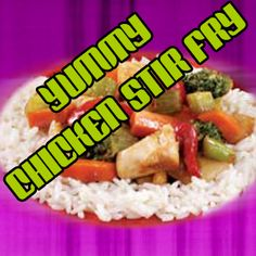A Great Idea for Lunch: Yummy Chicken Stir Fry Weight Loss Diets Weight Loss Help, Diet Plans To Lose Weight, How To Lose Weight Fast, Stir Fry Dishes, Belly Fat Diet, Diet Plans For Women, Chicken Stir Fry, Healthy Eating