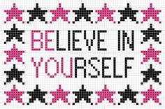 Be You - Believe in Yourself free cross stitch pattern from Kincavel Krosses