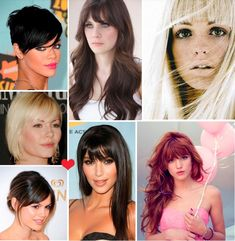 she bangs! beautiful celebrities / models with bangs