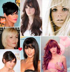 she bangs! beautiful celebrities / models with bangs