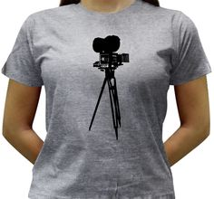 Camiseta Cinema - Baby-look