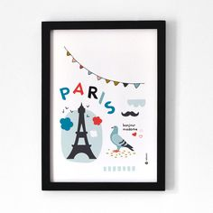 Paris  A4 Print by oelwein on Etsy, €19.00