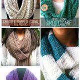5 FREE Crochet Scarf Patterns!