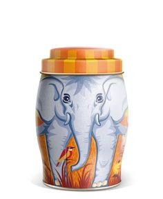 williamson tea large autumn leaves elephant caddy with 40 english, Wohnzimmer dekoo