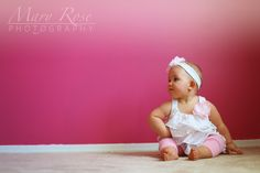 Jocie's One Year Session by Mary Rose Photography   Child Photography, Chicago photographer, one year birthday, one year photoshoot, lifestyle photography, pink, baby