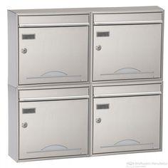 4er Edelstahl Aufputz Briefkasten Max Knobloch Memphis Sunrise Design BML