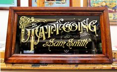 Sam Smith Reverse Glass Sign « David Smith – Traditional Ornamental Glass Artist