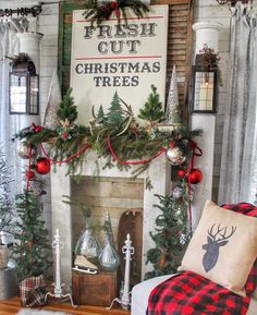 Looking for for inspiration for farmhouse christmas decor? Browse around this site for amazing farmhouse christmas decor pictures. This cool farmhouse christmas decor ideas looks brilliant. Christmas Signs Wood, Cheap Christmas, Christmas Mantels, Noel Christmas, Christmas Decorations, Christmas Ideas, White Christmas, Christmas Front Porches, Homemade Decorations