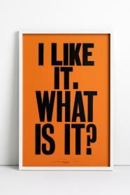 Anthony Burill - I like it what is it poster