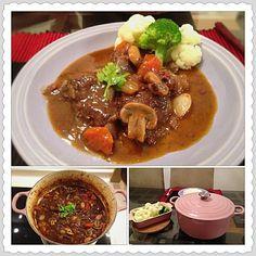 "玻璃朱城: 美國女廚神Julia Chlid ""紅酒燉牛肉"" 食譜 Boeuf Bourguignon recipe of Julia Child"
