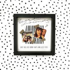 Best Friends Photo Frame Gift- Monochrome- Gold Glitter- FREE photo printing- Love You Like Vodka Shots and Jelly Tots- Personalised Glitter Photo, Gold Glitter, Jelly Tots, Vodka Shots, Personalised Frames, Best Friend Photos, Free Photos, Hand Lettering, Monochrome