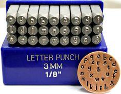 Papyrus Font Metal Letter Stamp Set- 3MM- Lowercase Metal Stamps- Steel Stamps- Metal Stamping And Jewelry Supplies- SGE-15L on Etsy, $51.43 AUD