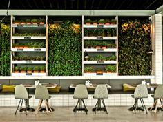 vertical garden in the restaurant #decor #verticalgarden