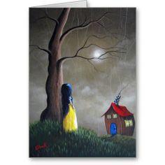 Whimsical and very pretty artwork - Snow White by Shawna Erback Greeting / Birthday Card