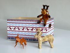 Caja de madera maciza decorada con decoupage. Navidad Wooden box decoupage. www.elpiojito.es
