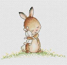Little Bunny love Cross Stitch Pattern by SVS | Craftsy