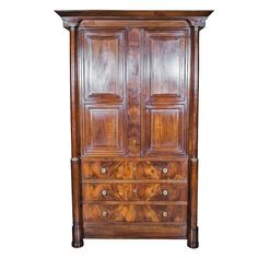 Fine French Empire Period Linen Press   From a unique collection of antique and modern linen presses at https://www.1stdibs.com/furniture/storage-case-pieces/linen-presses/