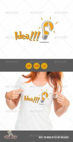 Idea!!! Logo — Vector EPS #yellow #bulb • Available here → https://graphicriver.net/item/idea-logo/8604816?ref=pxcr
