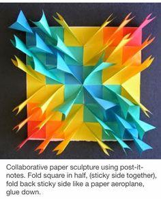 idee met post-it papiertjes