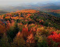 Blue Ridge Mountains at Banner Elk NC.