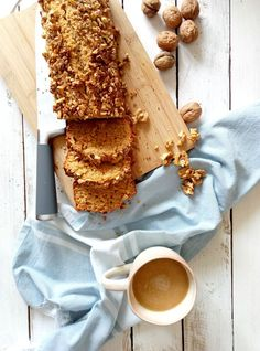 If you are a fan of not so sweet treats to go with your beloved coffee, this Walnut Loaf Cake is right down your alley. It's tasty, moist and crunchy at the same time. You'll love it.