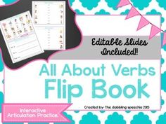 The Dabbling Speechie: All About Verbs Flip Book. Pinned by SOS Inc. Resources. Follow all our boards at pinterest.com/sostherapy/ for therapy resources.