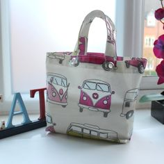 Pink Retro VW Campervan Lunch Bag with Personalised by lynnegold, £14.50