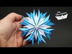 how to make a simple paper star - YouTube