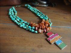 La joyería occidental collar Tribal Christian por TheCrystalCorral