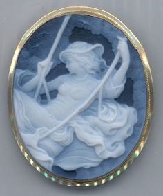 I love Cameos! The artwork is so gorgeous. I love Cameo rings, bracelets and lockets but not so much in pins as I am not a pin person. This one here is simply gorgeous. I think it is a pin but I would love it as a pendant. I just love the Victorian era...LOVE! :-) -kjk