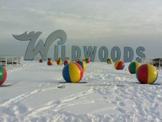Wildwood, NJ. Go to cape may in the winter! The houses are set up to look like candy ginger bread houses.