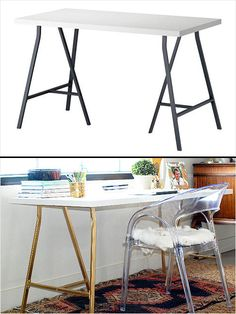 Ikea Hack: Vika Amon Table #diy #decor http://www.ivillage.com/ikea-hack-how-transform-and-repurpose-your-ikea-furniture/7-a-525310