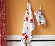 Tas-ka Tea towel, ovenmitten dageraad