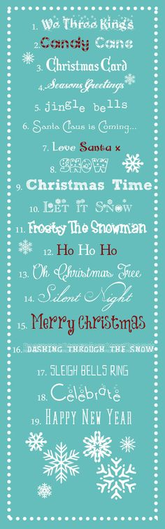 "Best Free Christmas Fonts from ""a typical English home"""