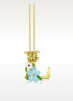 Les Nereides  Alphabet Fleuri - L Charm Necklace